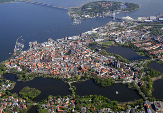 Aerial view of the Historic Centre of Stralsund