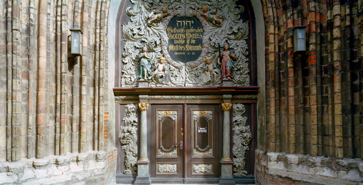 Baroque Gate of St. Nicholas' Church in Stralsund