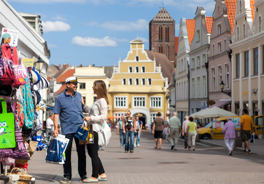 Shopping in the Historic Centre of Wismar