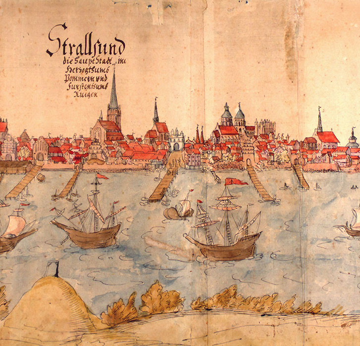 historical drawing of Stralsund