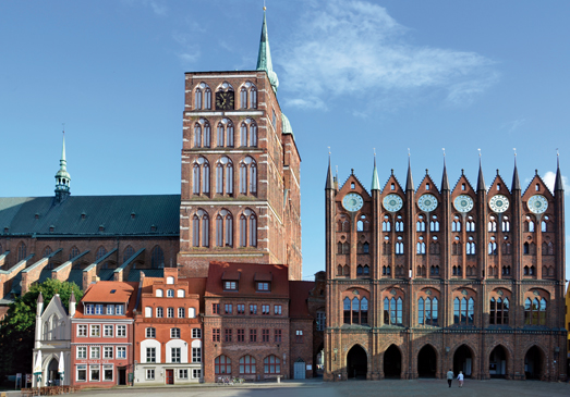 St Nicholas' Church and Town Hall at the Old Market Stralsund